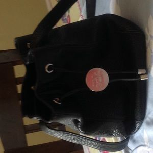 Leather SAK  bucket bag